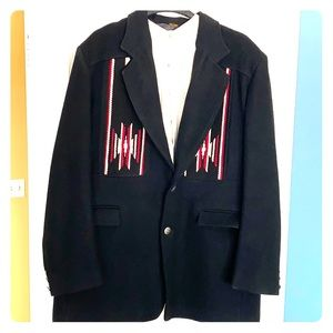 Vintage heavy Wool Western Suit Jacket 46L